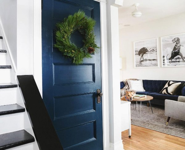 yellow-brick-home-navy-closet-door