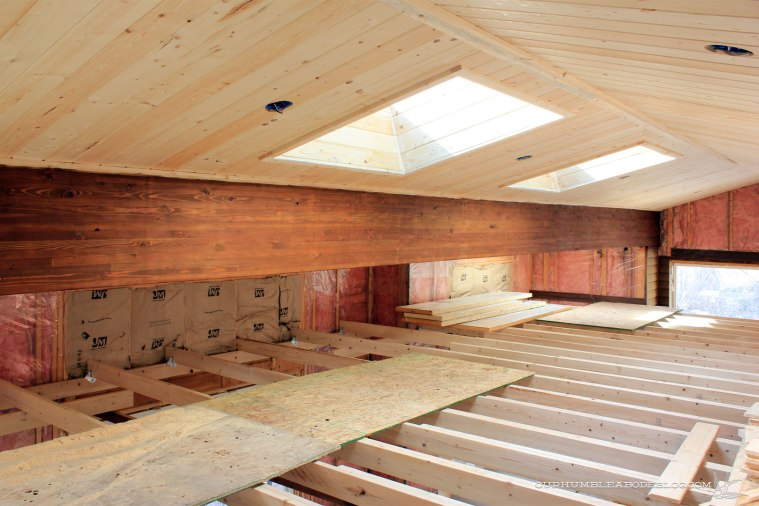 pool-house-beam-stained-with-skylights