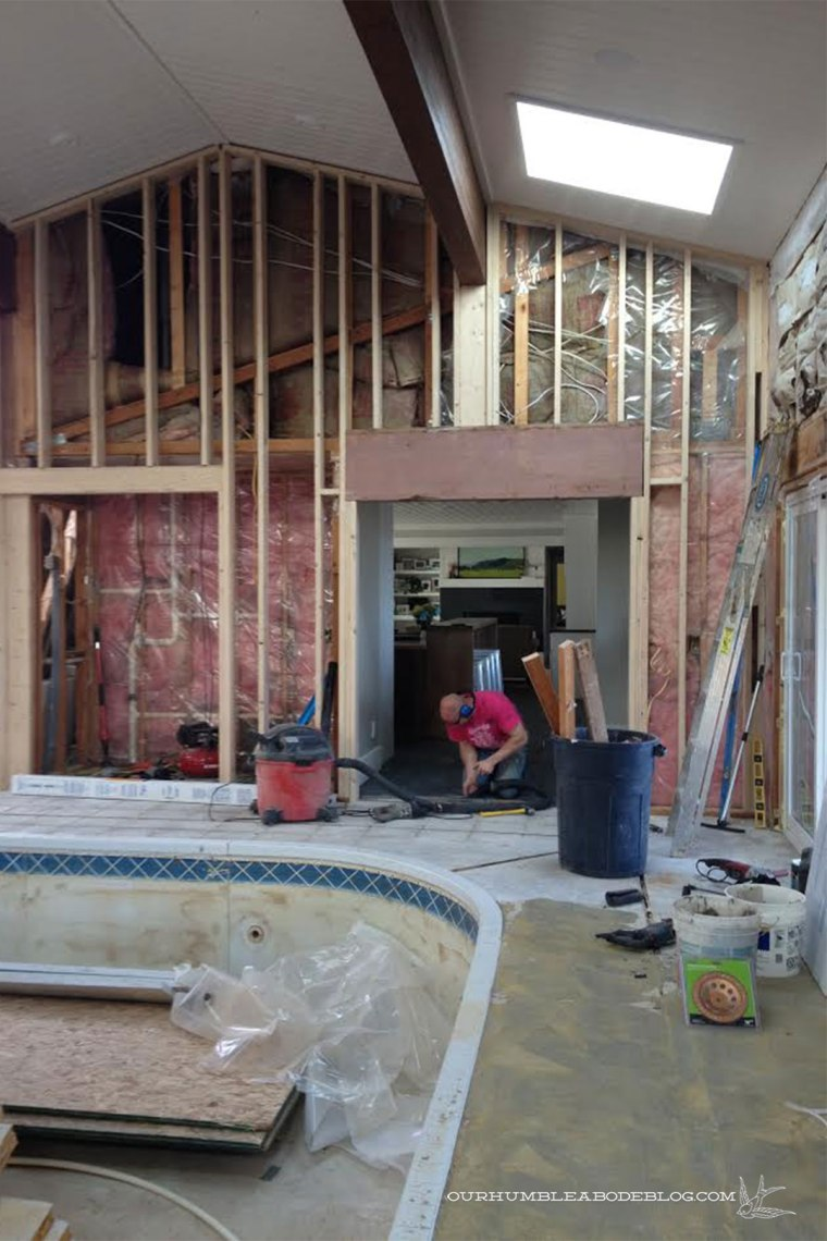 Pool-House-April-Progress-Installing-Wider-Door