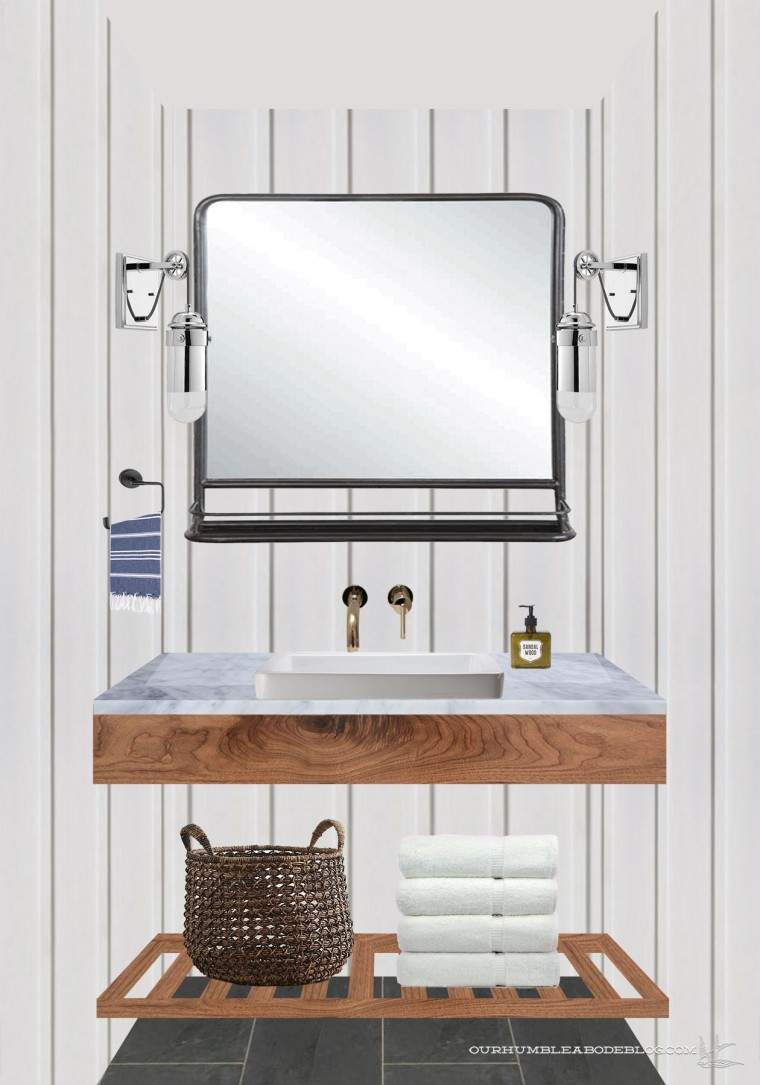 Pool House Bathroom Vanity 2