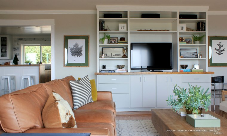 Complete-Entertainment-Center-Styled-into-Kitchen