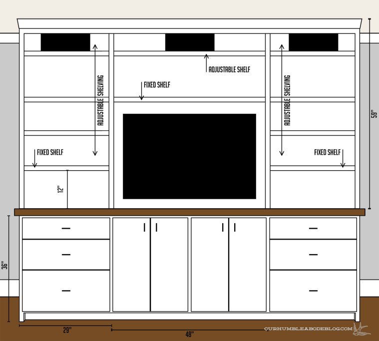 Entertainment-Center-Plan-Measurements