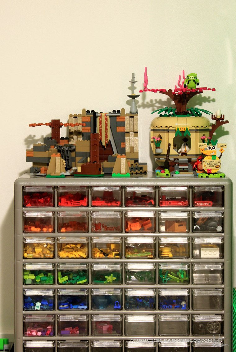 Storing-Legos-in-Stair-Space-Drawer-Stack