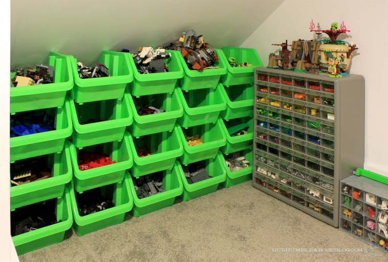 Storing-Legos-in-Stair-Space-Stacking-Bins-and-Drawers