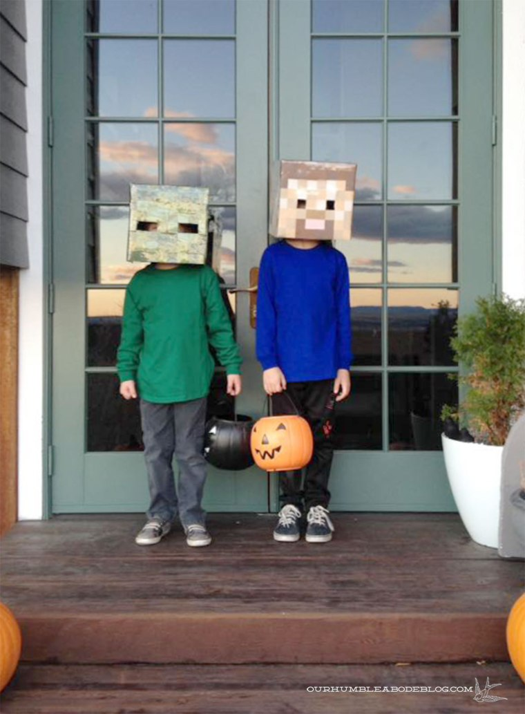 Minecraft-Zombie-and-Steve-Costumes