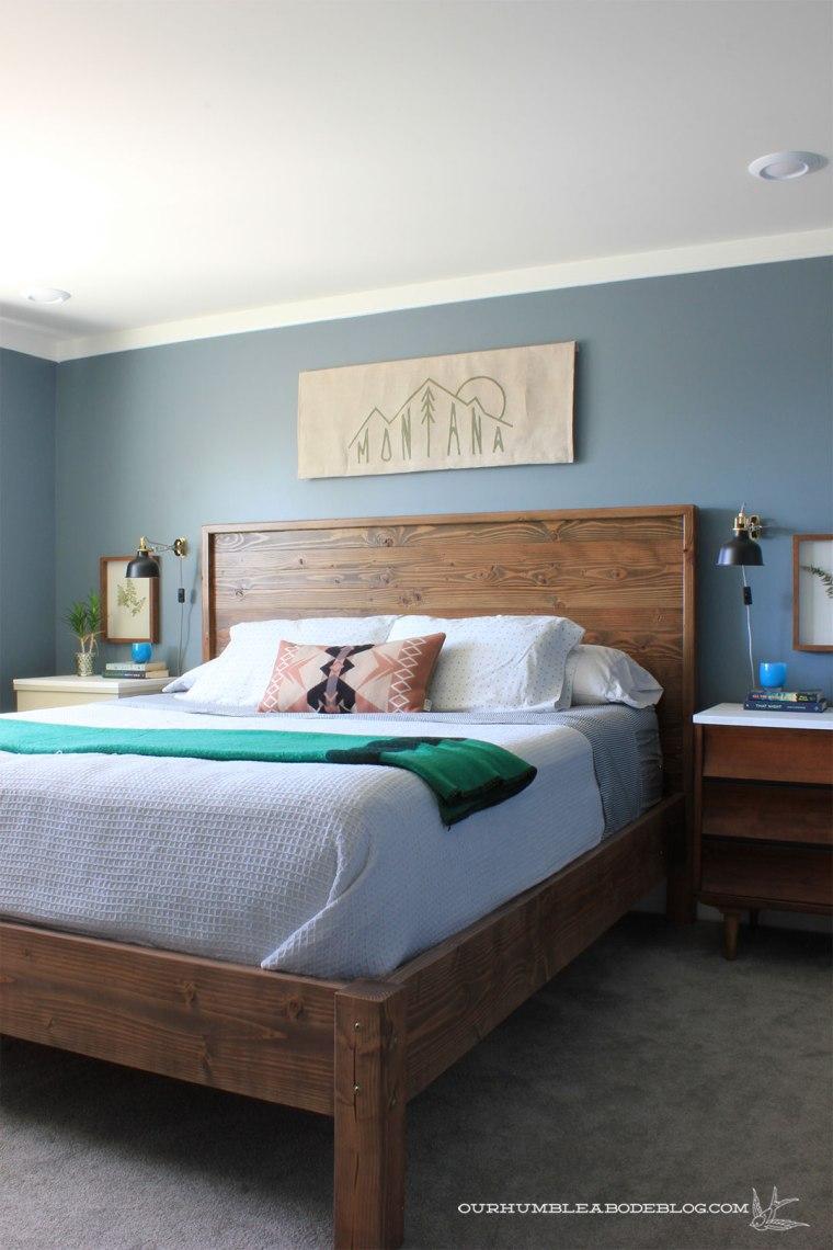 Montana-Flag-Art-in-Basement-Bedroom