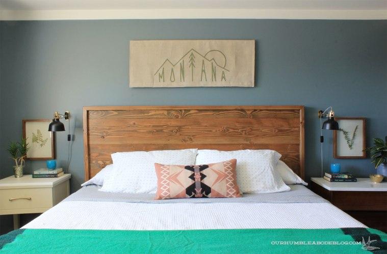Montana-Flag-Art-Over-Basement-Bedroom