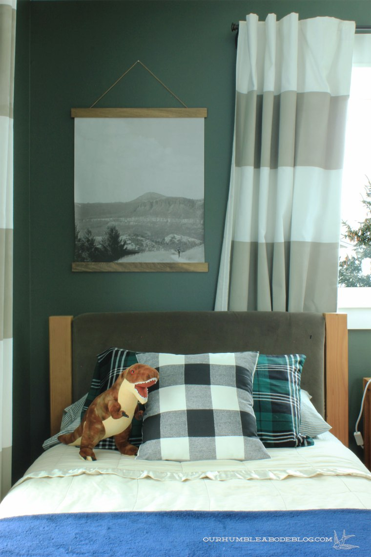 Boys-Bedroom-Painted-Vintage-Vogue-Bed-Detail