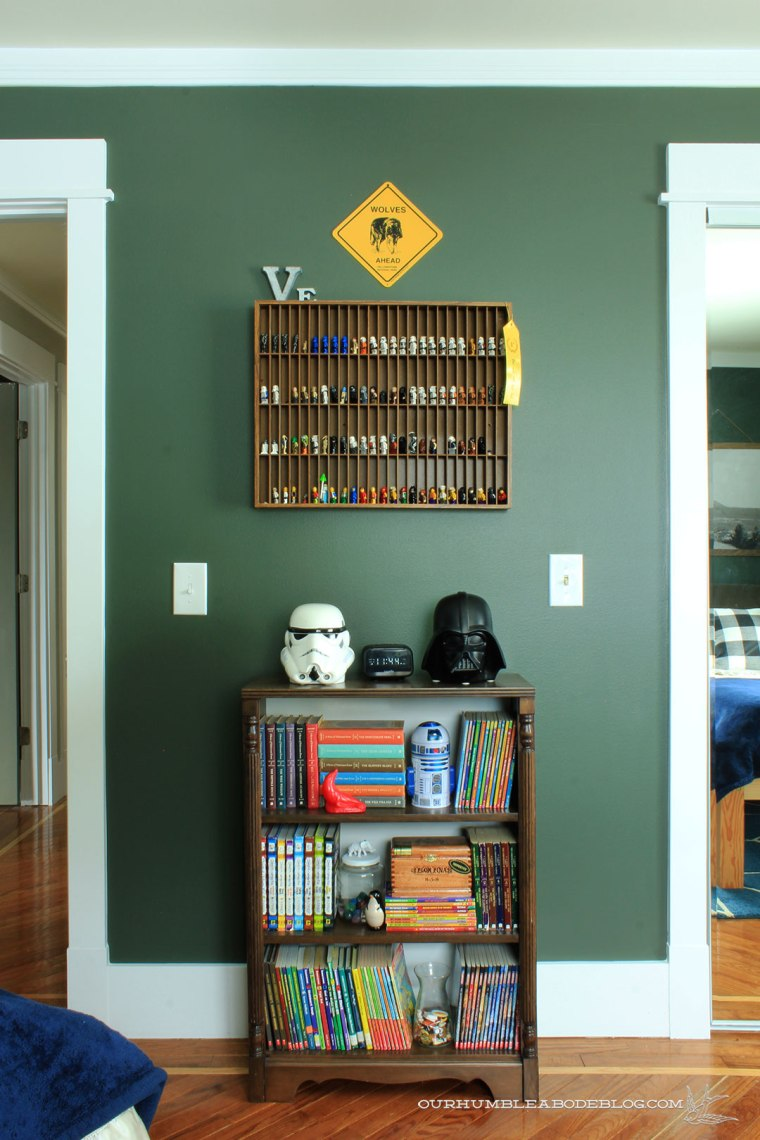 Boys-Bedroom-Painted-Vintage-Vogue-Bookshelf