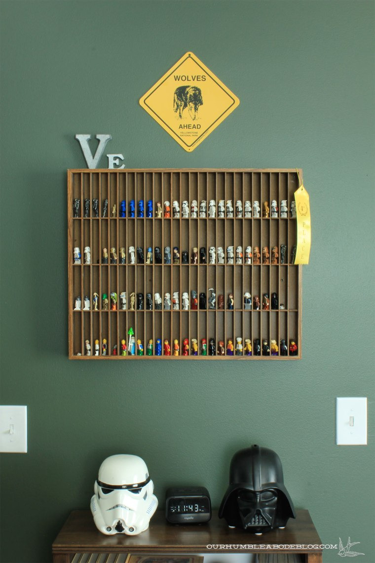 Boys-Bedroom-Painted-Vintage-Vogue-Lego-Shelf-Detail
