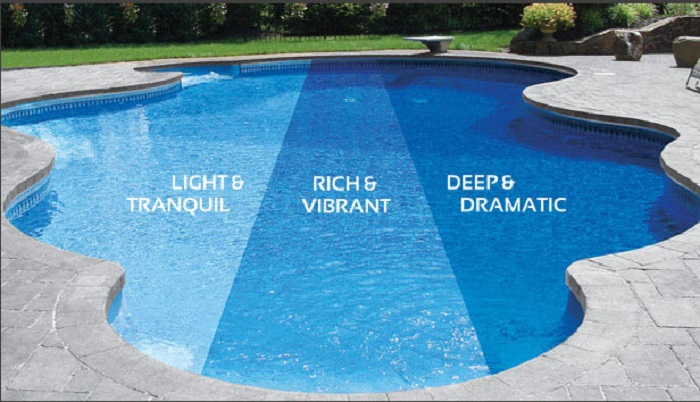 Fantastic Inground Pool Liners Design with Unique Shaped Decoration
