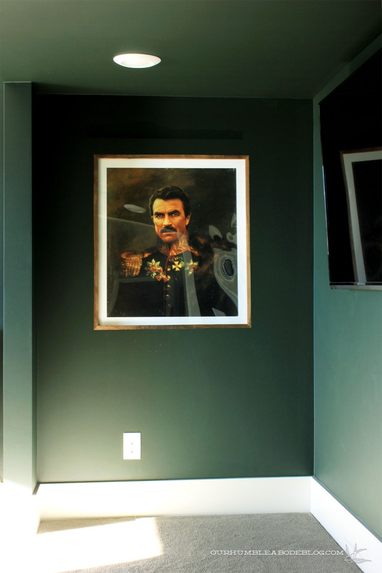 Walnut-Framed-Tom-Selleck-Print