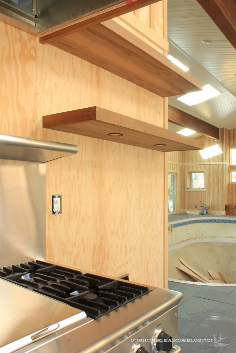 Pool-House-Kitchen-Walnut-Shelves-Lights-2