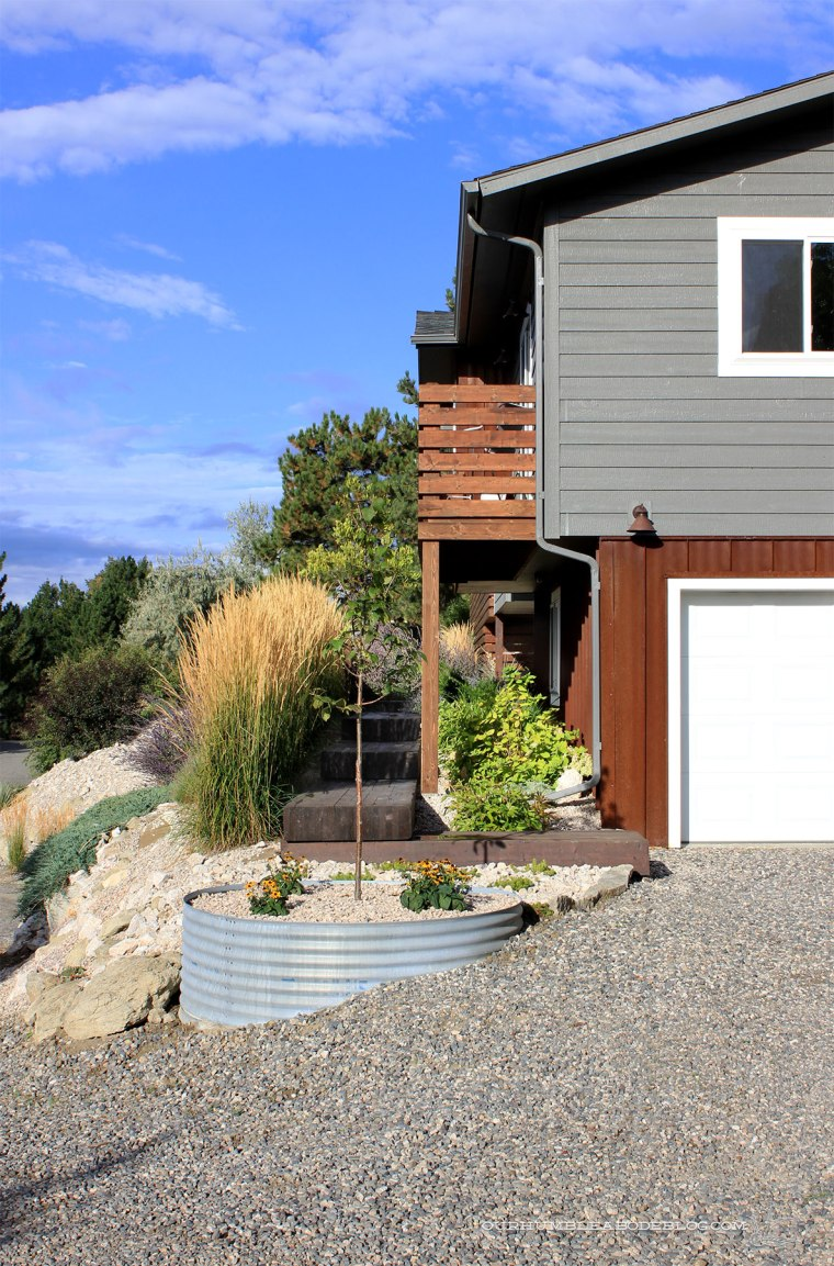 Corrugated-Steel-Planter-Toward-Front-Walkway