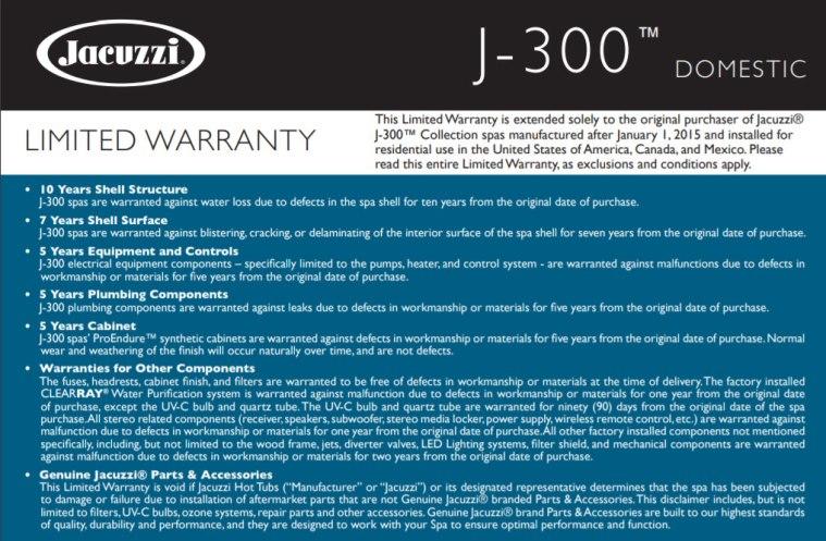 Jacuzzi-Warranty-Info