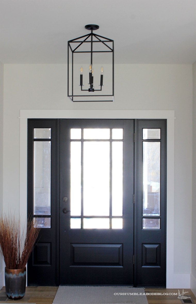 Black-Front-Door-and-Lantern-Pendant