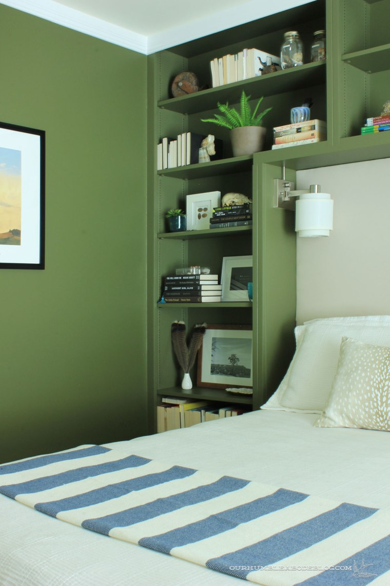 Green-Bookshelves-Styled-Left-Side-Overall