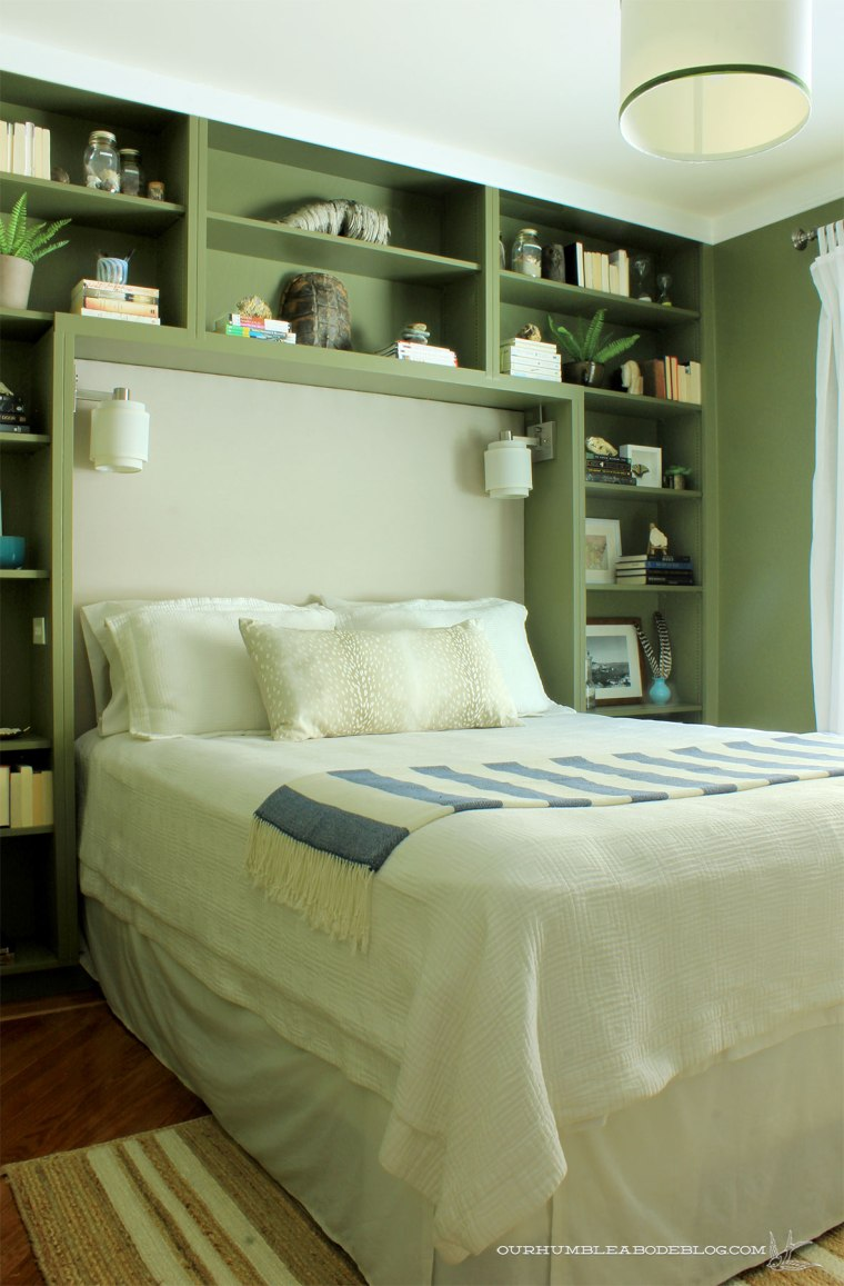 Green-Bookshelves-Styled-Overall-from-Door