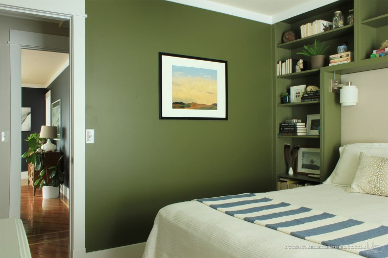 Green-Bookshelves-Styled-Overall-from-Window
