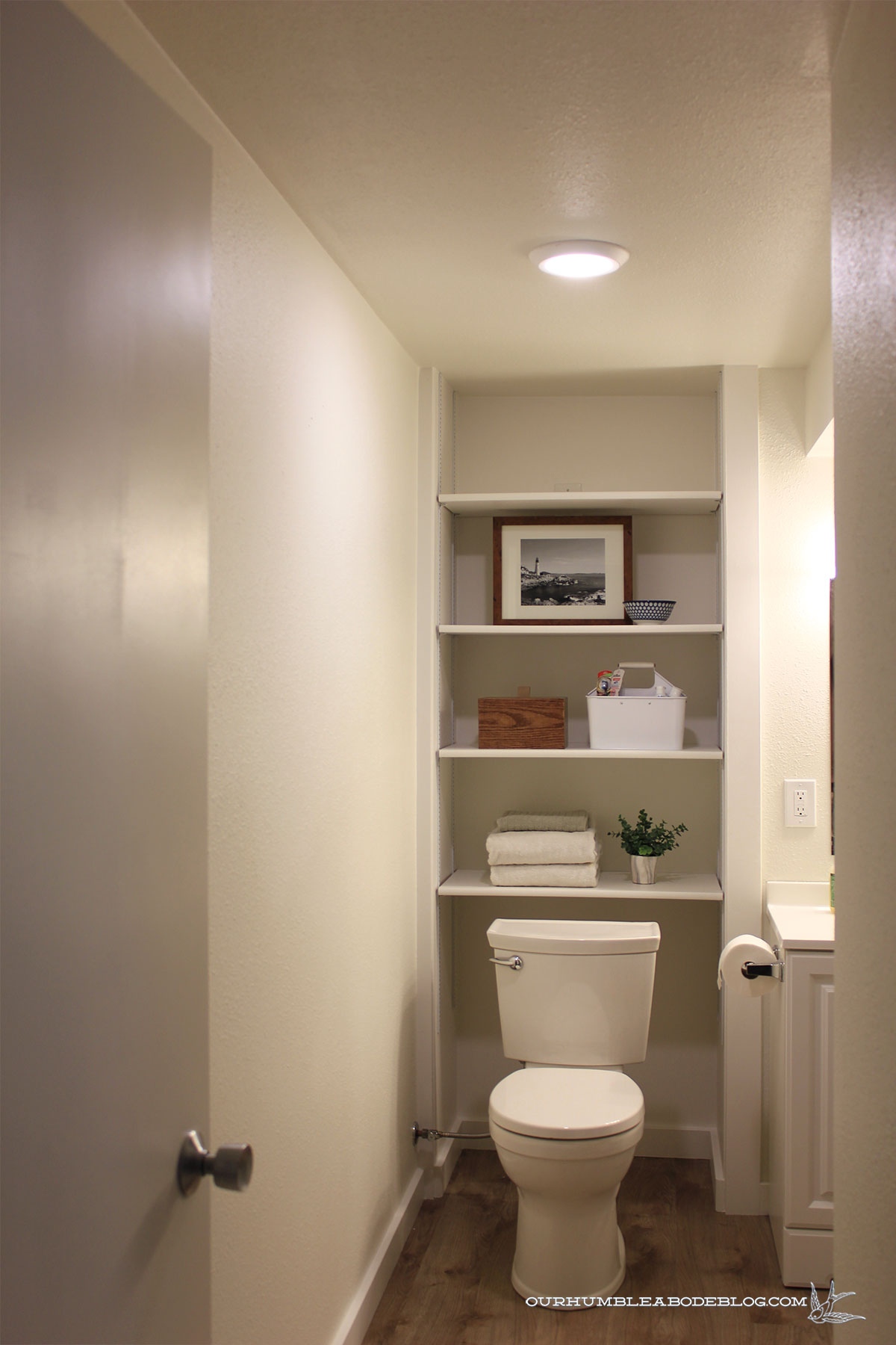 Basement-Bath-Addition-Shelves-from-Door