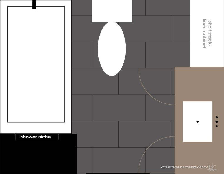 Main Bathroom Floorplan