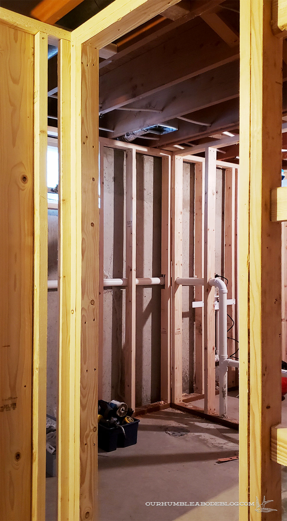 Basement-Progress-from-Bathroom-Door