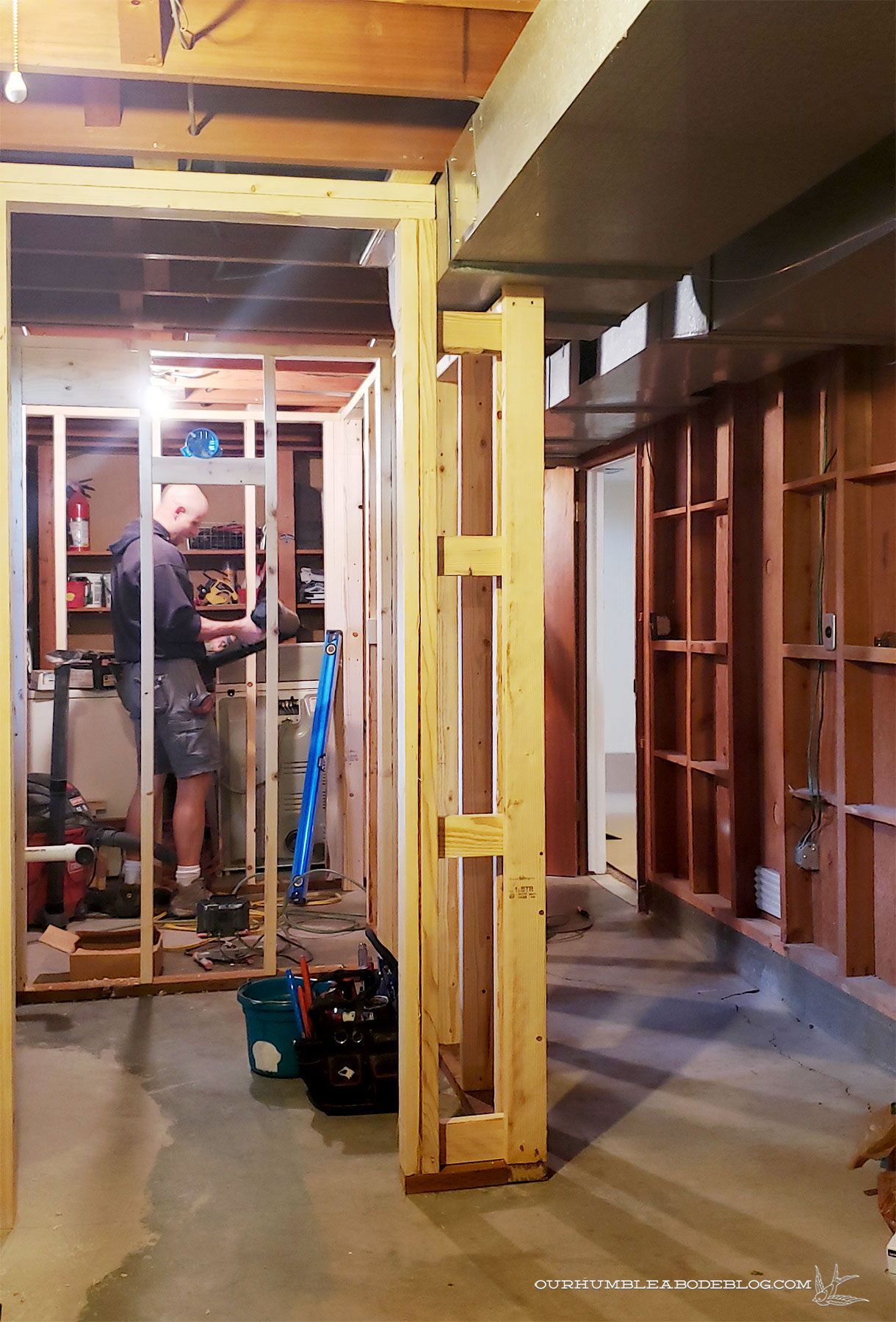 Basement-Progress-Toward-Bathroom-Door